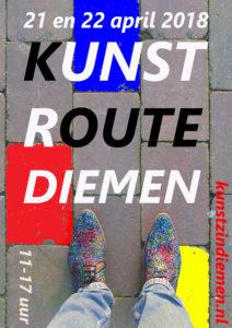 affiche Kunstroute Diemen 2018 A4